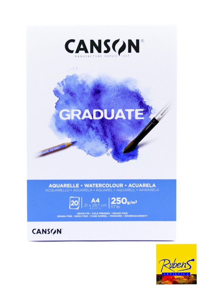 BLOCK CANSON 1557 Graduate A4 250 grs 20 hojas