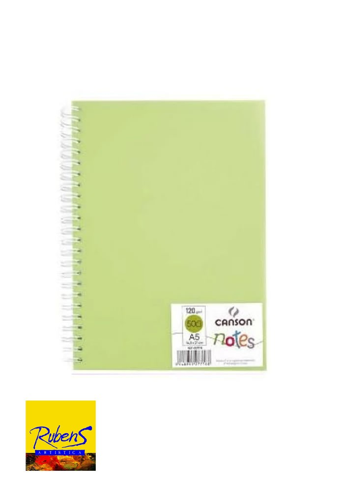 BLOCK CANSON NOTES A5 120grs 50H. VERDE