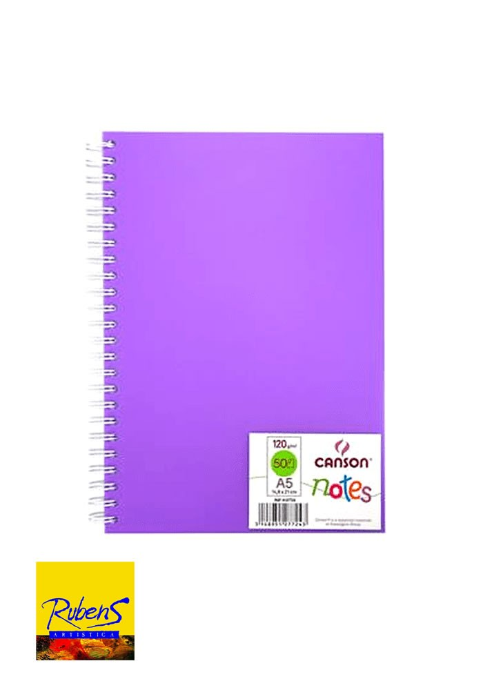 BLOCK CANSON NOTES A5 120grs 50H. VIOLETA