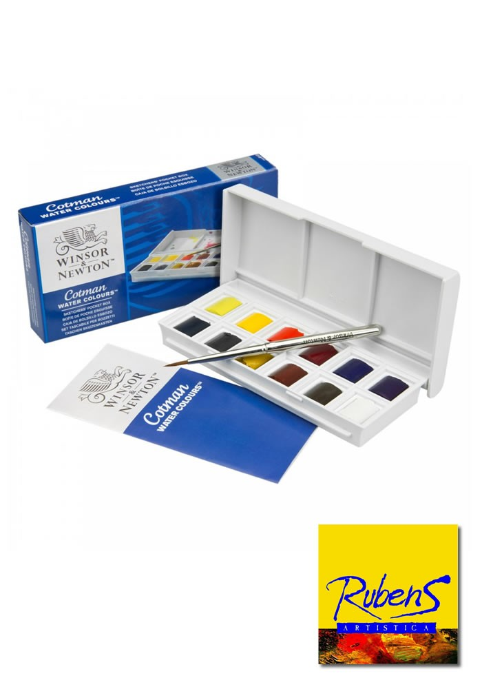 SET DE ACUARELAS COTMAN POCKET BOX x 12
