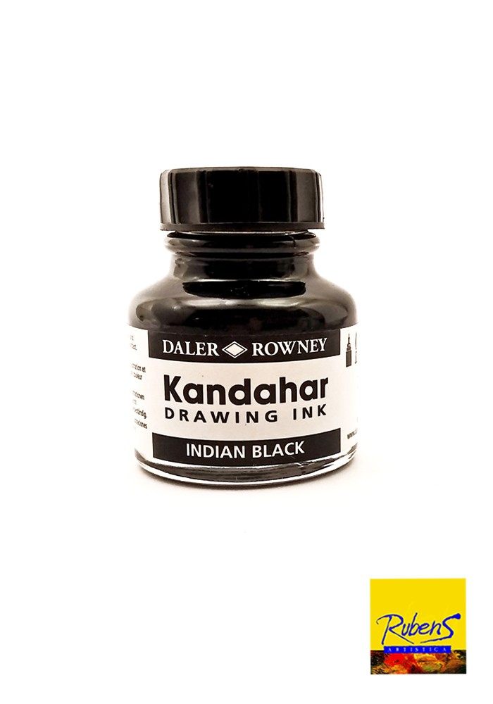 Tinta China DALER ROWNEY KANDAHAR 28ml Negra