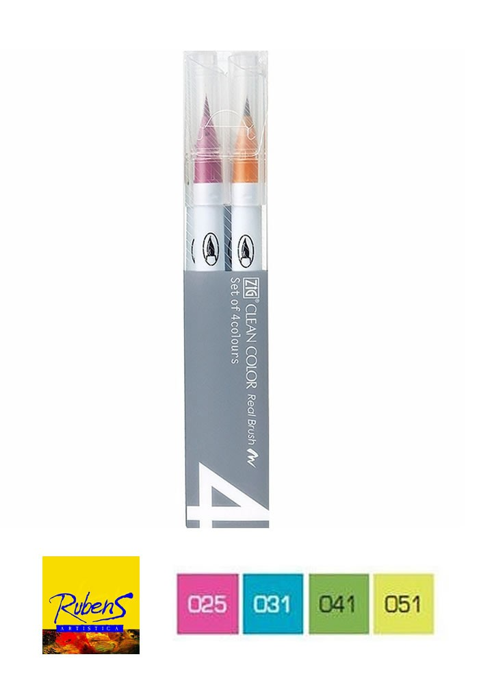 MARCADOR KURETAKE clean color pop x 4